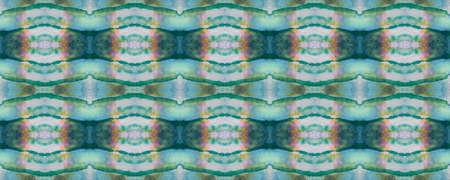 Watercolor Ethnic Design. Paintbrush Aztec Background. Blue, Gray, Green Pastel Fun Rectangle Ikat Rapport. Ethnic Seamless Pattern. Kilim Rug Random Texture. Chevron Geometric Swimwear Pattern. Banco de Imagens