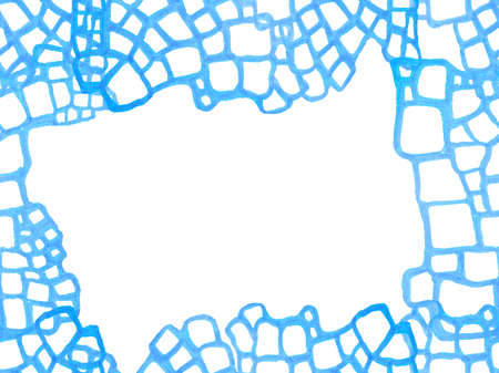 African Leather Illustration. Alligator Closeup Background. Hand Drawn Crocodile Pattern. Crocodile Seamless Pattern. Predator Animal Skin Print. Dragon Skin Imitation. Classic blue and indigo