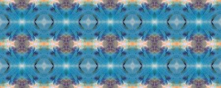 Kilim Rug Random Texture. Paintbrush Aztec Background. Chevron Geometric Swimwear Pattern. Watercolor Ethnic Design. Blue, Gray, Green Pastel Fun Rectangle Ikat Rapport. Ethnic Seamless Pattern.
