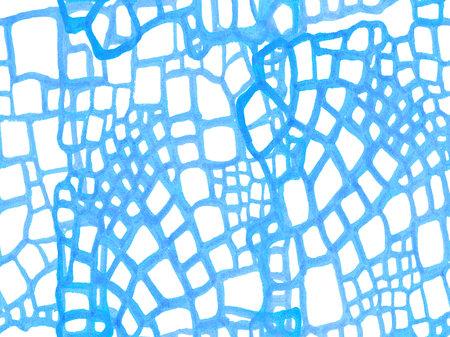 Alligator Closeup Background. Classic Blue and Indigo Crocodile Seamless Pattern. Predator Animal Skin Print. Dragon Skin Imitation. African Leather Illustration. Hand Drawn Crocodile Pattern.