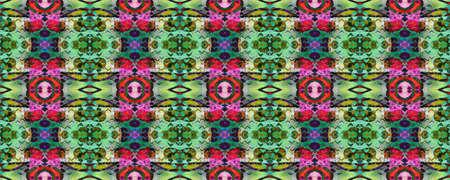 Kilim Rug Random Texture. Watercolor Ethnic Design. Chevron Geometric Swimwear Pattern. Paintbrush Aztec Background. Blue, Red, Green Pastel Fun Rectangle Ikat Rapport. Ethnic Seamless Pattern. Banco de Imagens