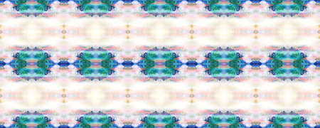 Chevron Geometric Swimwear Pattern. Watercolor Ethnic Design. Blue, Red, Purple Pastel Fun Rectangle Ikat Rapport. Ethnic Seamless Pattern. Paintbrush Aztec Background. Kilim Rug Random Texture. Banco de Imagens