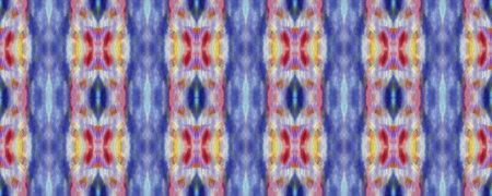 Kilim Rug Random Texture. Chevron Geometric Swimwear Pattern. Blue, Red, Green Pastel Fun Rectangle Ikat Rapport. Ethnic Seamless Pattern. Paintbrush Aztec Background. Watercolor Ethnic Design.