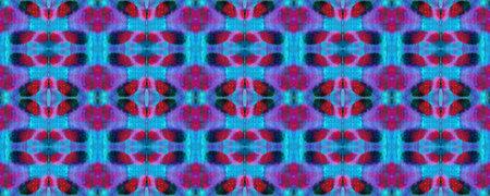 Chevron Geometric Swimwear Pattern. Blue, Red, Black Pastel Fun Rectangle Ikat Rapport. Ethnic Seamless Pattern. Watercolor Ethnic Design. Paintbrush Aztec Background. Kilim Rug Random Texture.