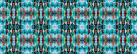 Chevron Geometric Swimwear Pattern. Watercolor Ethnic Design. Kilim Rug Random Texture. Blue, Gray, Red Pastel Fun Rectangle Ikat Rapport. Ethnic Seamless Pattern. Paintbrush Aztec Background. Banco de Imagens