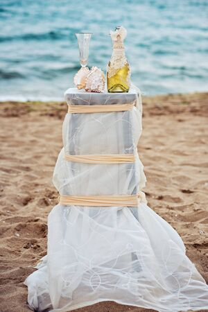 Beach Wedding Details in front of the sea