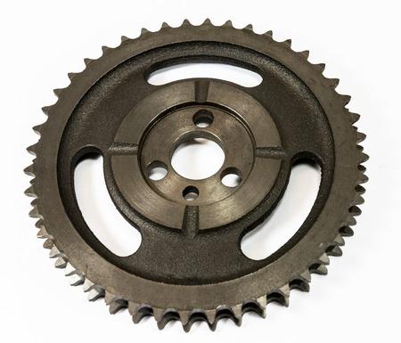 Antique automotive double roller cast iron timing gear