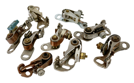 antique vintage automotive ignition distributor contact point sets