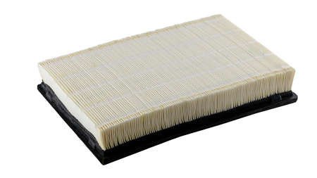 American automobile air filter assembly on a white background