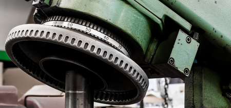 Vintage antique automotive machine shop power hone dial indicator with adjustment wheel