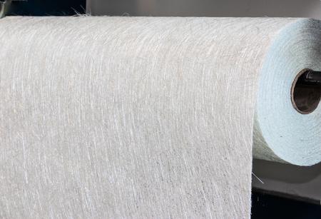Material en rollo compuesto de tejido de fibra de vidrio FMR Industry Foto de archivo