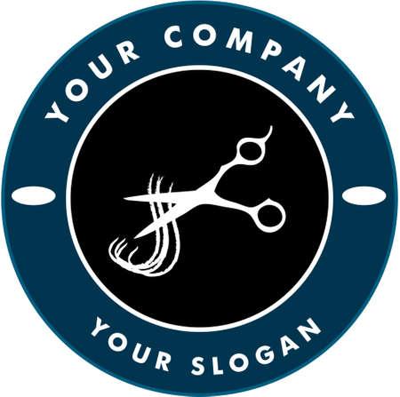 ladenkast: Schaar snijden haar streng, haar Solon Logo