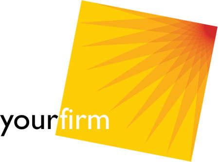 sun flower: Logo design your firm Illustration