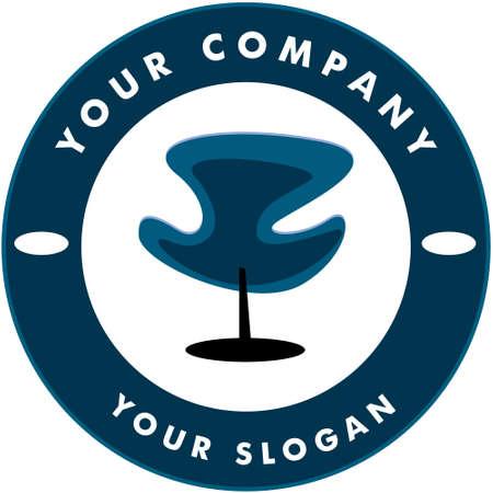 Hair Solon Logo Chair Vector