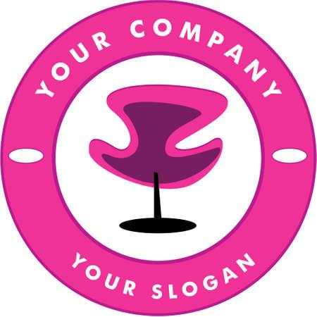 Hair Solon Logo Chair Stock Vector - 5756660