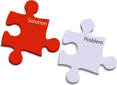 problem and solution puzzle Vector