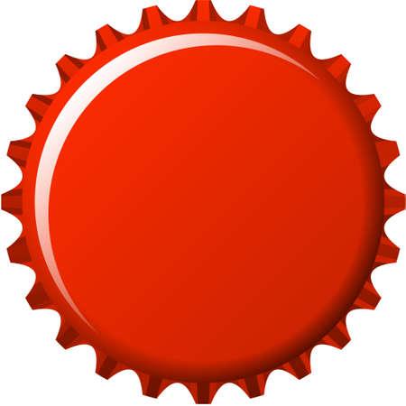 aqua button badge in red crown cap  Vector