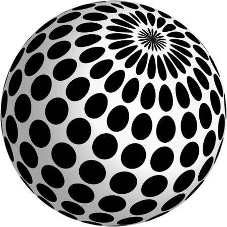 black dots: 3d ball design with black dots