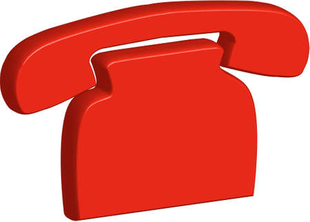 dialing: red phone Illustration