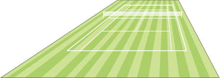 battu: champ de Cour de tennis