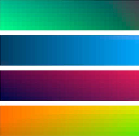 Different gradient color banners backgrounds