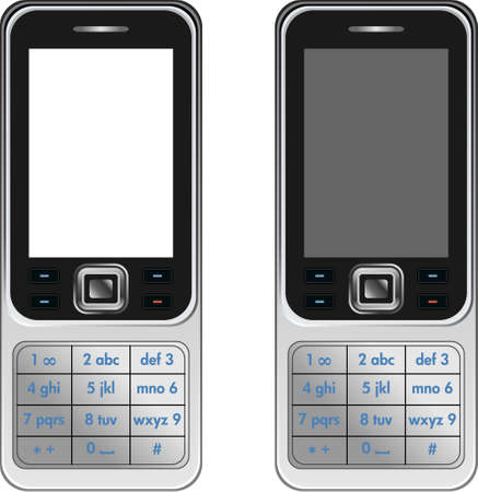 Vector Handphone Cellular Phone Isolated on White Background Vector
