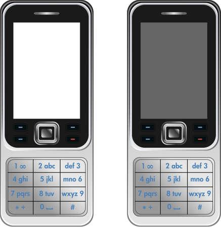 almanak: Vector Handphone mobiele telefoon losse op witte achtergrond Stock Illustratie