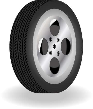 aluminum wheels: neum�tico 3D detallada con detalles de rayas