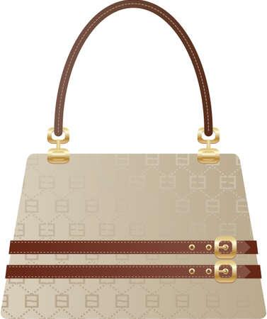 schöne Handtasche Tasche auf dem weißen Rückseite Boden