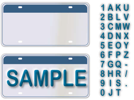 plaque immatriculation: Empty License Plate New York With Editable Live Texts