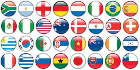 bandera de uruguay: botones de pegatinas de las banderas nacionales