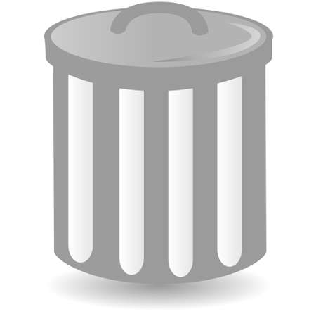 dust bin container trash can  Vector