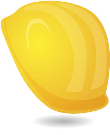 hard hat helmet miner's helmet in yellow Stock Vector - 6349224