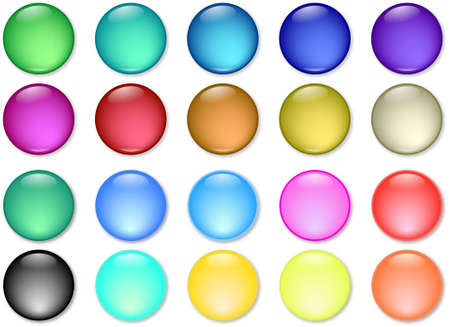 glossy web buttons icons Stock Vector - 6349238