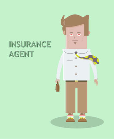 insurance agent figure with a bag in hand Vector