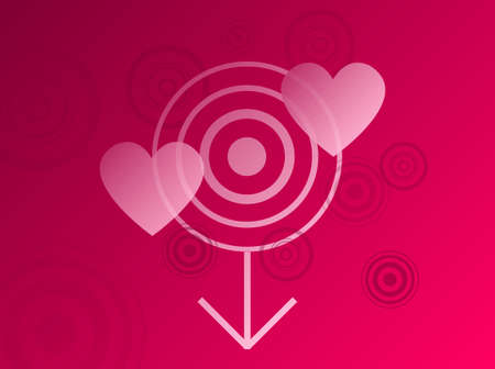 pink reddish background with heart detail for valentines day Vector