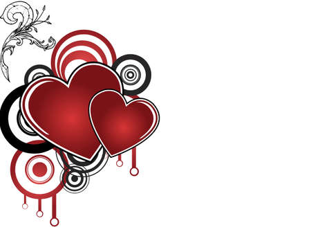 abstract background with red heart for valentines day Vector