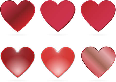 red vector hearts for valentines day Vector