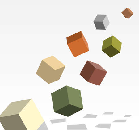 variables: cubes in 3d filling in for conceptual expression