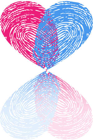 fingerprint heart Illustration