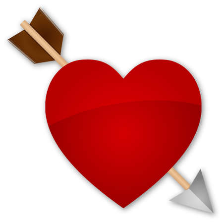 Heart pierced by an arrow Vector