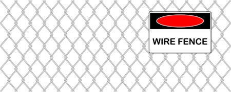 chained link:  wire fence