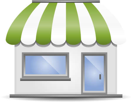 Storefront Awning in Green Vector
