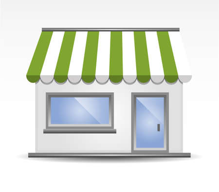 sunshade: Storefront Awning in Green