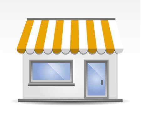 sunshade: Storefront Awning in Yellow