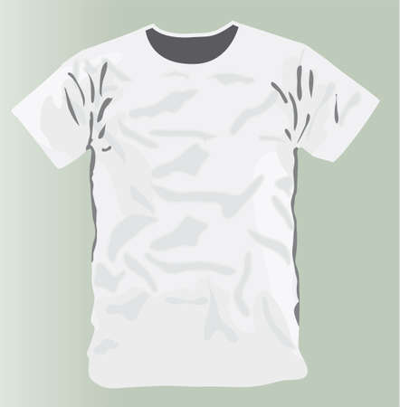 White T-shirt design template front face only Stock Vector - 6882706