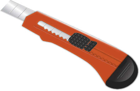 box cutter: art�culos de papeler�a de rojo de herramienta de corte afilado cuchillo de papel