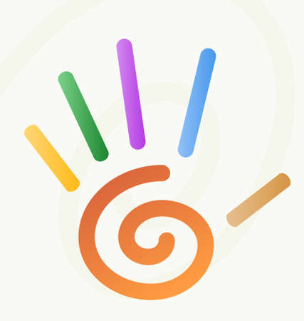 spiral hand with fingers Vector