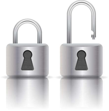 illustration of padlock Vector