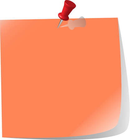terra: pinned note paper, terra cotta